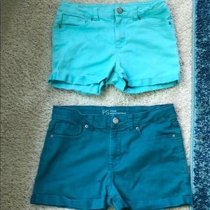 2 pairs of p.s by aeropostale shorts